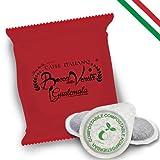BOCCA DELLA VERITA - Paquete de 100 Cápsulas E.S.E. Aroma GUATEMALA, Cápsulas Compatibles con Cafetera E.S.E. dm 44mm, Cápsulas 100% Biodegradables, 100% Made in Italy