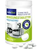 WoldoClean Pastillas de limpieza sin fosfatos para cafeteras automáticas, cafeteras, Jura, Delonghi, Bosch, Siemens Seaco 140x