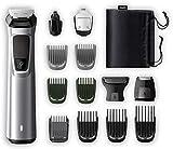 Philips MG7720/15 Recortadora 14 en 1 Maquina recortadora de barba y Cortapelos para hombre, óptima precisión, tecnología Dualcut, autonomía de 120 minutos, batería, Negro/Plata
