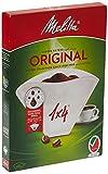 Melitta, 40 Filtros de café, Tamaño 1x4, Para cafeteras de filtro, Original, Blanco
