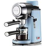 SXZSB Cafetera Express Manual Power Espresso 800W, Presión, Puede Hacer 4 Tazas,Acabados En Acero Inoxidable Usado para Hogar Oficina Cafetera