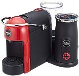 Lavazza A Modo Mio - Jolie & Milk - Cafetera con espumador de Leche Rojo