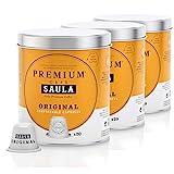 Café Saula, Pack 3 botes con 60 cápsulas compostables. Café Premium Original. Compatibles Nespresso
