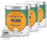 Café Saula, Pack 3 botes con 60 cápsulas compostables. Café 100% Orgánico. Compatibles Nespresso