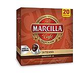 Marcilla Café Intenso - 200 cápsulas compatibles con máquinas Nespresso* (10 paquetes de 20 unidades)