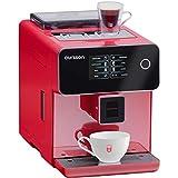 Oursson AM6250/RD - Máquina de café superautomática, molinillo de cerámica, pantalla táctica, 19 bares, color rojo