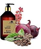 B.O.T cosmetic & wellness Black Shampoo Champú Anticaída Natural con Café Ricino, Keratina y Extracto de Cebolla Detox Champu Acelerador - 250 ml