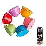 PopHMN Cápsula de café reutilizable, 6PCS Cápsulas de café recargables Cápsulas de filtro Tazas para Dolce Gusto