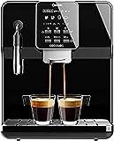 Cecotec cafetera megautomática Power Matic-ccino 6000 Serie Nera. 19 Bares,1-2 cafés, Sistema de rápido Calentamiento, Pantalla LCD, depósito café 250 gr, Molinillo Integrado, 1350 W