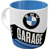 Nostalgic-Art Taza de café Retro BMW – Garage – Idea de Regalo para los Aficionados a los Accesorios de Coches, Cerámica, Diseño Vintage, 8.5 x 13 x 9 cm