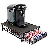 Maison & White Tassimo 60 Pod Holder | Cajón de cápsulas y soporte para máquina de café Negro