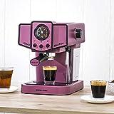 ECODE Cafetera Espresso Delice Purple, 20 Bares de Presión, Vaporizador Orientable, Depósito de 1.5 litros, Mono/Doble dosis, Manómetro con Temperatura ECO-419 DP