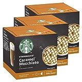 Starbucks Nescafé Dolce Gusto Caramel Macchiato - Juego de 3 Tazas de café con Caramelo, 3 x 12 cápsulas