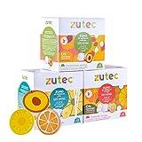 Zutec - Cápsulas de Zumo Surtido (Naranja, Piña y Melocotón) 100% Natural - Compatibles con cafeteras Dolce Gusto* - 3 Estuches de 12 cápsulas - 36 cápsulas