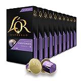 L'Or Espresso Café Lungo Profundo Intensidad 8 - 100 cápsulas de aluminio compatibles con máquinas Nespresso (R)* (10 Paquetes de 10 cápsulas)
