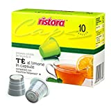 10 Cápsulas Ristora de té de limón, compatibles con cafeteras Nespresso.