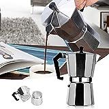 QKFON Cafetera Moka de aluminio EStovetop Espresso Maker Coffee Gator Rapid Stove Top Cafetera Fábrica de café fácil de usar y limpiar Máquina automática de café del hogar