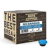Note d'Espresso - Cápsulas de café para las cafeteras Lavazza y A Modo Mio, Nicaragua, 7 g (caja de 100 unidades)