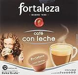 Café FORTALEZA - Cápsulas de Café Con Leche Compatibles con Dolce Gusto