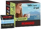 CAFÉ KIMBO DECAFFEINATO - DESCAFEINADO - Box 100 VAINAS ESE44 7g