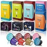 Gourmesso caja Bio & Fairtrade - 100 cápsulas de café compatibles con cafetera Nespresso *