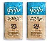 CAFES GUILIS DESDE 1928 AMANTES DEL CAFE- Café Descafeinado Grano Arábica Tueste Natural Sabor Aroma Espresso 2 kg