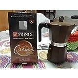 Monix New Cream - Cafetera Italiana de Aluminio, Capacidad 6 Tazas, Apta para Todo Tipo de cocinas incluida inducción