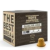 Note d'Espresso Italiano - Cápsulas de café, compatibles con cafeteras Nespresso, Qualità Oro, 5.6 g x 100