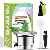 CAPMESSO Cápsula de café reutilizables, Cápsula rellenables para espresso, Cápsula de acero inoxidable compatibles con las máquinas de la línea original de Nespresso