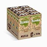 Bonka Café Tostado Molido Mezcla, 70/30 250 g - 8 Paquetes