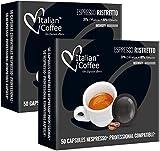 100 Capsulas Nespresso Profesional - Ristretto - Capsulas Nespresso Planas Compatibles