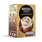 NESCAFÉ GOLD Cappuccino Natural, Café soluble, 10 Sobres de 14g