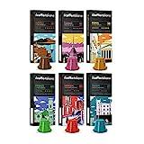FRHOME - Nespresso 120 Cápsulas de Café compatibles - Il Caffè italiano - Tour d' Italia Kit de degustación con varias intensidades