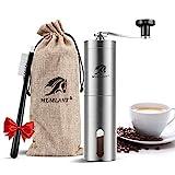 MLMLANT Molinillo de café, Acero Inoxidable Molino clásico para moler Granos Semillas Cafe á Mano Cereales Maquina muelas, Manual Coffee Grinder,hogar,la Oficina y los Viajes