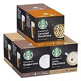 Starbucks White Cup Variety Pack De Nescafe Dolce Gusto Cápsulas De Café 6 X Caja De 12Unidades