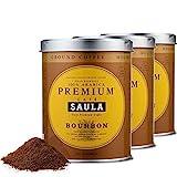 Café Saula, 3 Botes de 250 gr. Gran Espresso Premium Bourbon Blend 250 gr. café molido 100% Café Arábica