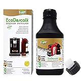 EcoDescalk Ecológico Concentrado (9 Descalcificaciones). Descalcificador 100% Natural. Limpiador para Cafeteras. Todas las Marcas. Producto CE.