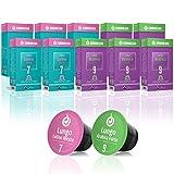 Gourmesso Caja de Lungo - 100 cápsulas de café compatibles con Nespresso - 100% Comercio Justo - Las 2 variedades de Lungo más populares en una caja