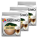 Tassimo Jacobs Latte Macchiato Classico, café, café con leche, café, 48 T-los discos (24 Puertos de iones de litio)