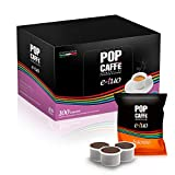 100 Cápsulas Pop Caffè E-TUO 1 Intenso compatibles con Flor Flore, E´i Espresso y Mita MPS, aroma auténtico