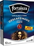 Café Fortaleza -Café Soluble Sobres, Descafeinado Forte, Variedades Arábicas, Pack 10 x 12 - Total 120 sobres