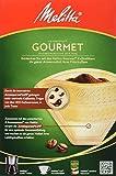 Melitta Gourmet filtros de café Natural Brown, paquete de 4 x 80 piezas