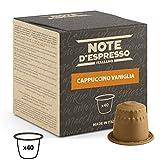 Note d'Espresso - Cápsulas de capuchino de vainilla instantáneo, Exclusivamente Compatible con cafeteras Nespresso, 40 unidades de 5g