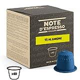 Note d'Espresso - Cápsulas de Té, Limón ,Exclusivamente Compatible con cafeteras Nespresso, 40 unidades de 8g, Total: 320 g