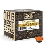 Note d'Espresso - Colombia - Cápsulas de Café para las Cafeteras Lavazza y A Modo Mio - 100 x 7 g