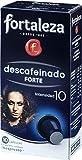 Café FORTALEZA - Cápsulas de Café Descafeinado Forte Compatibles con Nespresso - Pack 5 x 10 - Total 50 cápsulas
