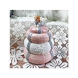 HQQ La Tarro de Almacenamiento de frascos de cerámica, el corazón de la niña Rosa Puede Estar Decorada con artesanías Ornamentales