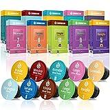 Gourmesso Test Box - 100 Cápsulas de café compatibles con Nespresso - Comercio justo- 10 variedades diferentes en la práctica caja de degustación
