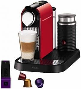 cafetera nespresso con leche