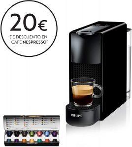 cafetera de capsulas nespresso krups essenza mini xn1108 negro